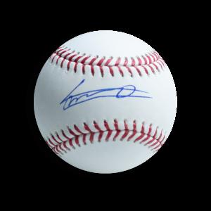 Vladimir Guerrero Jr. Autographed Baseball - Blue ink