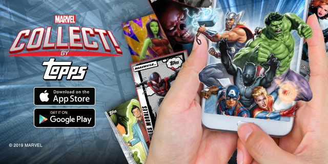 Topps launches MARVEL Collect! App